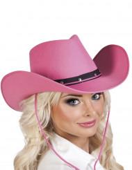 Vaaleanpunamusta cowboyhattu aikuiselle