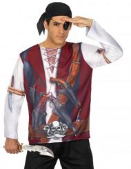 Miesten naamiaisasu merirosvon t-paita