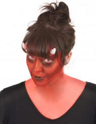 Aikuisten Halloween demoni-maskeeraussetti, mukana piilolinssit