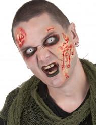 Zombin meikkisetti ja piilolinssit aikuiselle halloween