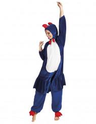 Naisten sininen kana-asu
