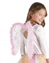 Vaaleanpunaiset enkelin siivet lapsille - 40 x 33 cm