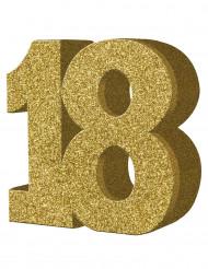 Kultainen pöytäkoriste 18 v