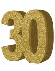 Kultainen pöytäkoriste 30 v