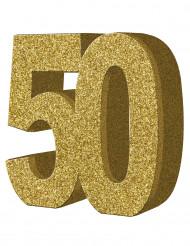 Kultainen pöytäkoriste 50 v