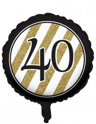 Mustakultainen ilmapallo 40 v
