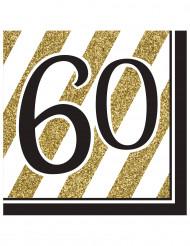 Kultaa ja mustaa - Servetit 60v 16 kpl