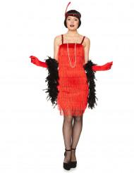 Punainen charleston- mekko