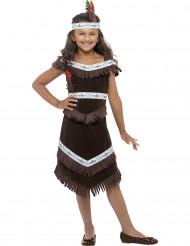 Ruskea intiaanimekko lapsille