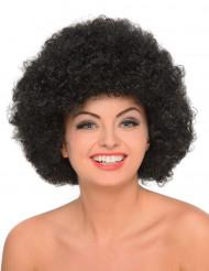 Naisten musta afroperuukki