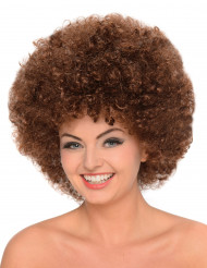 Naisten kastanjanruskea afroperuukki