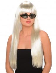 Hollywood - Pitkä blondi peruukki aikuisille