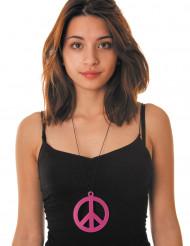 Pinkki peace-kaulakoru aikuiselle