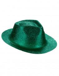 Vihreä paljettikoristeltu hattu aikuisille