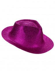 Aikuisten paljettikoristeltu vaaleanpunainen hattu