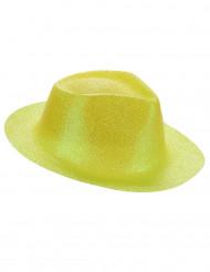 Aikuisten hattu keltaisella glitterillä