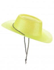 Keltainen cowgirlin hattu aikuisille