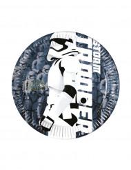 Pienet kartonkilautaset Stormtrooper Star Wars VII™ 20 cm - 8 kpl