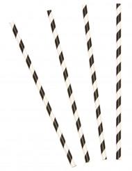 Mustavalkoraidalliset kartonkipillit - 10 kpl