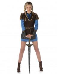 Naisten sininen viikinkiasu