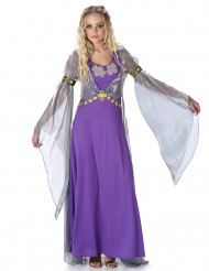 Prinsessa violetti - Keskiaikainen naamiaisasu naisille