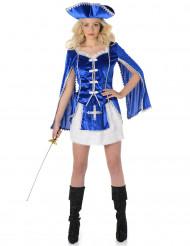 Sininen muskettisoturin mekko naisille