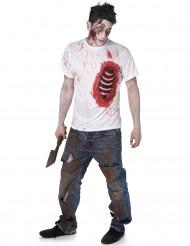 Miesten zombiasu tekokylkiluilla