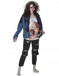 Aikuisten Zombie-asu lateksi mahalla
