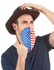 Aikuisten tekoparta Yhdysvaltain lipun väreissä
