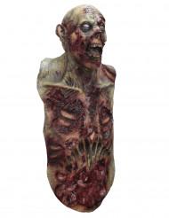 Aikuisten zombinaamari rinnuksella