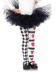 Tyttöjen harlekiini herttasydän sukkahousut