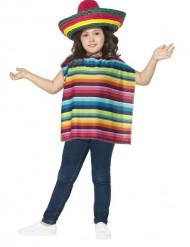 Poncho ja sombrero Meksiko