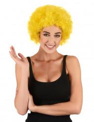 Aikuisten keltainen afro-peruukki