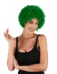 Aikuisten vihreä peruukki Afro/Pelle