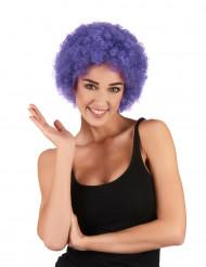 Violetti afrotukka / klovnin peruukki aikuisille
