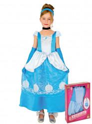 Sininen prinsessan naamiaisasu tytölle