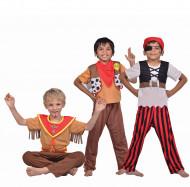3 in 1- setti: merirosvon, sheriffin ja intiaanin asut lapsille