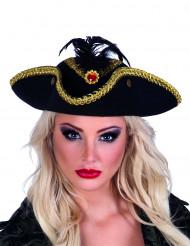 Merirosvottaren kolmikulmainen hattu naisille