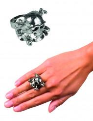 Metallinen merirosvon sormus aikuiselle