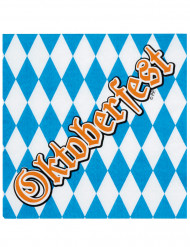 Paperilautasliinat Oktoberfest-tekstillä 33 x 33 cm - 12 kpl