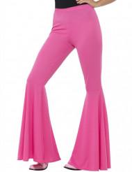 Naisen vaaleanpunaiset discohousut