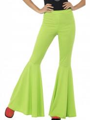 Naisen vihreät discohousut