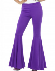 Naisen violetit discohousut