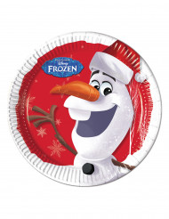 Olaf Christmas™ pahvilautaset 8 kpl 23 cm