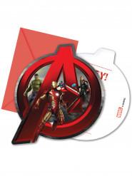 Kirjekuorelliset kutsukortit The Avengers: Age of Ultron™ - 6 kpl