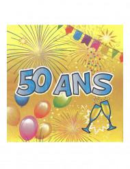 Servetit 50-vuotisjuhliin