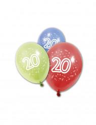 Ilmapallot 20-vuotissynttäreille - 8 kpl
