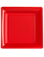 Punainen lautanen neliö 12kpl