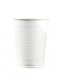 Valkoiset muovimukit 20 cm - 100 kpl