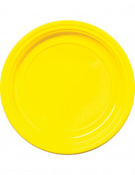 Keltaiset muovilautaset 22cm